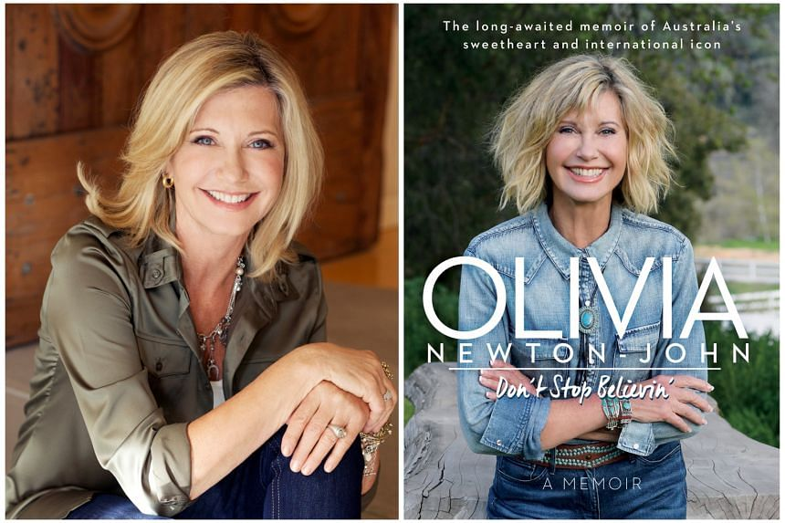 Olivia Newton-John (left), in a 2012 publicity photo, has completed radiotherapy and is receiving hormonal and alternative treatments. Don't Stop Believin' (right)