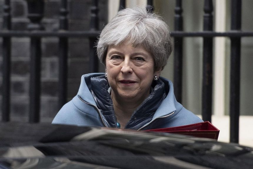 British Prime Minister Theresa May leaves after a Cabinet meeting in Downing Street, London, Britain, on March 25, 2019.