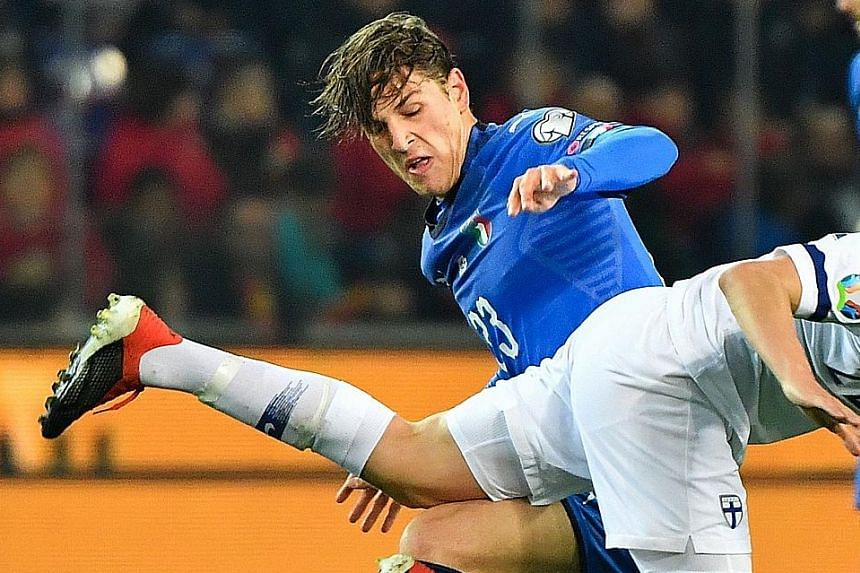 Nicolo Zaniolo made his Italy debut when he came on against Finland.