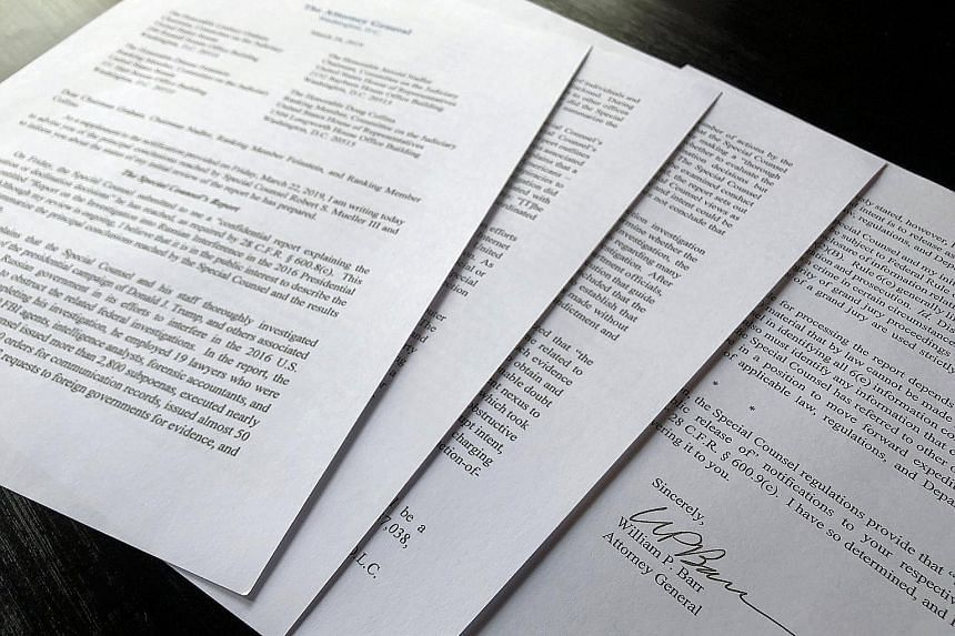 While Attorney-General William Barr, in his letter to lawmakers, concluded that President Donald Trump had not obstructed justice, he acknowledged the Special Counsel was inconclusive on it.