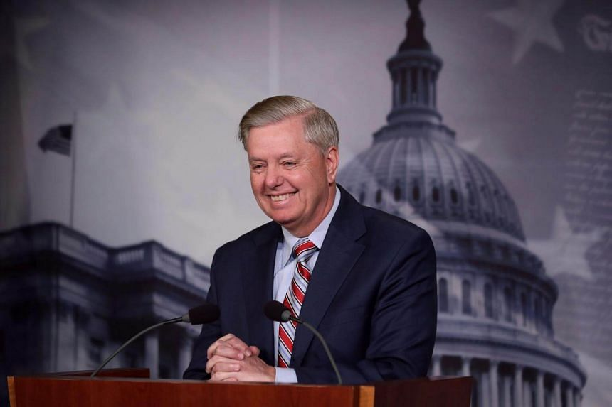 Senate Judiciary Committee Chairman Lindsey Graham holds a news conference to discuss the summary of special counsel Robert Mueller's investigation, on March 25, 2019.