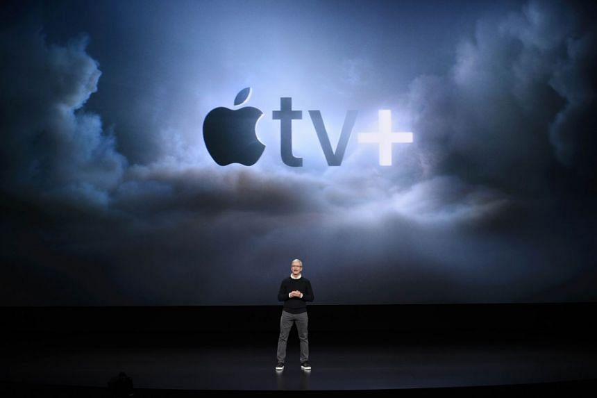 Chief Executive Tim Cook introduced Monday's event at the glass-enclosed Steve Jobs Theater at Apple's Cupertino, California, headquarters, saying the event would focus on the technology company's services, not its hardware.