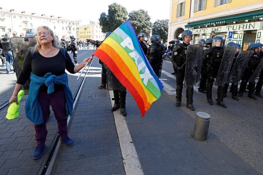 Genevieve Legay, a 73-year-old anti-capitalism activist and grandmother, suffered a fractured skull on Saturday after riot police charged anti-government demonstrators in the Riviera city of Nice.