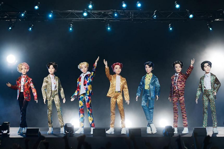 The dolls are the first in the line of the BTS x Mattel collection, which is expected to include collectables such as figurines and role-playing items, according to lifestyle portal Soompi.
