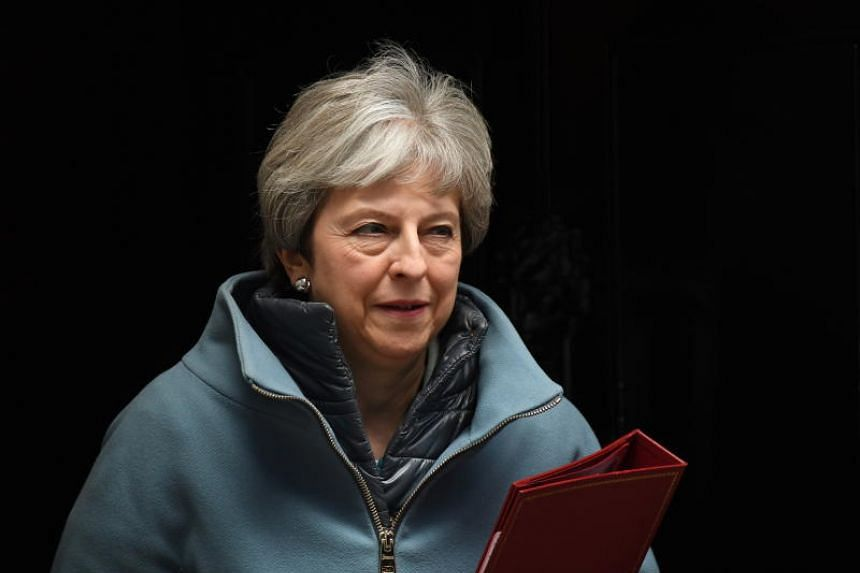 The political editor of The Sun newspaper said British Prime Minister Theresa May was expected to set a date for her resignation at a meeting with Conservative lawmakers.