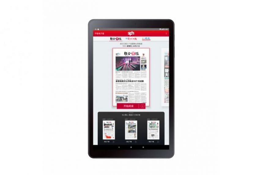 With a single subscription, readers will be able to access e-paper editions of Lianhe Zaobao, Lianhe Wanbao and Shin Min Daily News on the app, which will be preloaded on the latest Samsung Tab A, 10.5-inch Wi-Fi tablet.