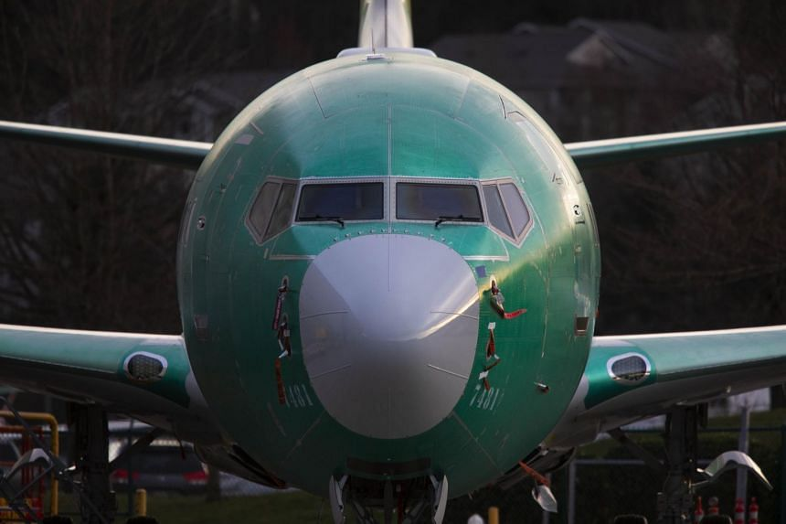 A 737 Max 8 at Boeing's plant in Renton, Washington, on March 20, 2019.