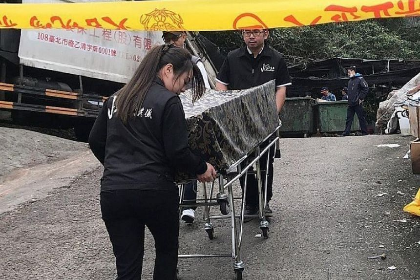 Cleaners found the body of a newborn girl in a food waste bin outside a restaurant in Taipei last month.