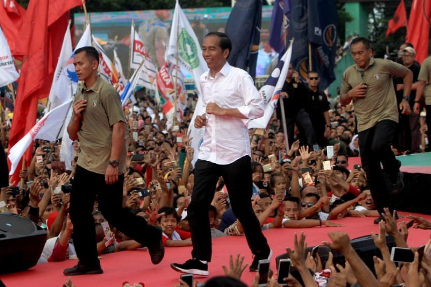 Indonesian President Joko Widodo (above) said he is ready to challenge his rival Prabowo Subianto in the latter's electoral strongholds, such as Banten province on Java.