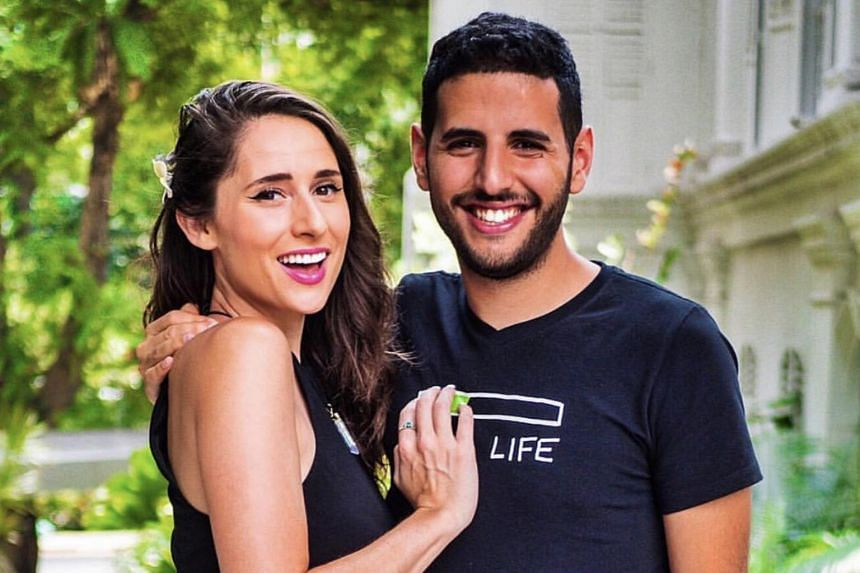 Video blogger Nuseir Yassin (right), better known as the founder of Nas Daily, with his girlfriend Alyne Tamir.