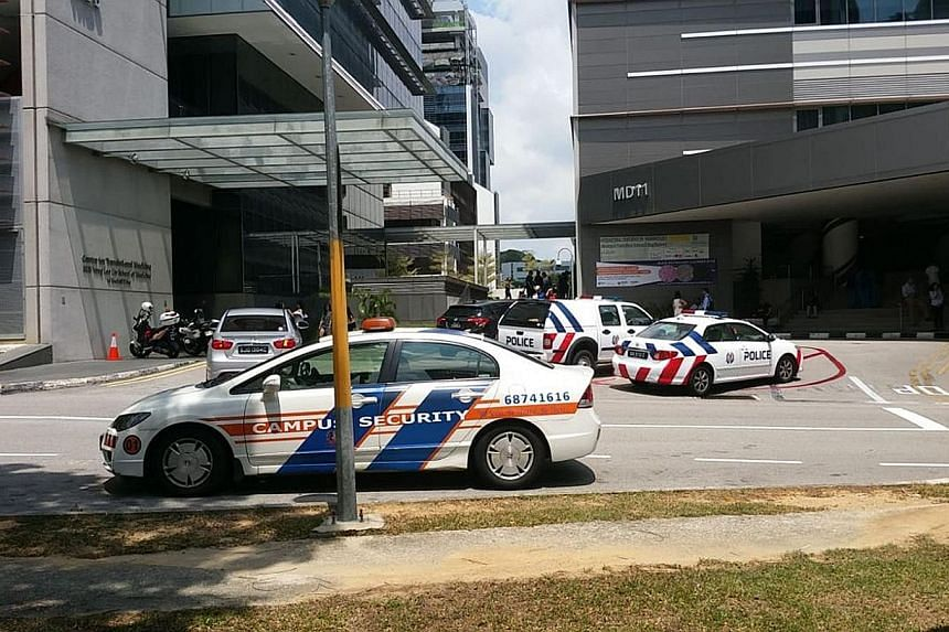 There were no reported injuries in the fire, which broke out at WIL@NUS Corporate Laboratory and involved the contents of a freezer room.
