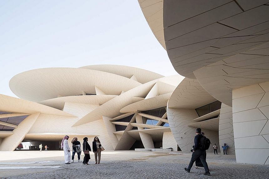 The national museum of Qatar has a multi-curved roof, which resembles a giant jigsaw puzzle, and is made up of 76,000 panels in 3,600 different shapes and sizes. The 52,000 sq m sprawling structure will be the first notable building visitors to Qatar