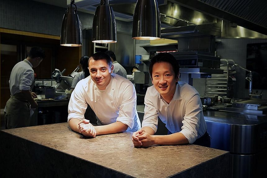 Odette chef Julien Royer and Mr Wee Teng Wen, co-founder of The Lo & Behold Group which includes Odette in its stable of restaurants. The French fine dining restaurant at the National Gallery Singapore opened in 2015.