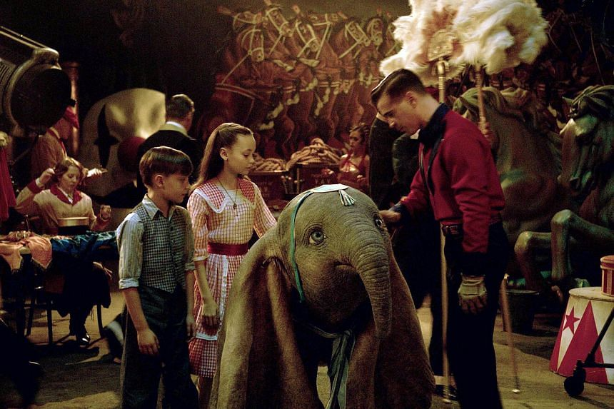 Movie still from the film Dumbo that opens here on March 28.