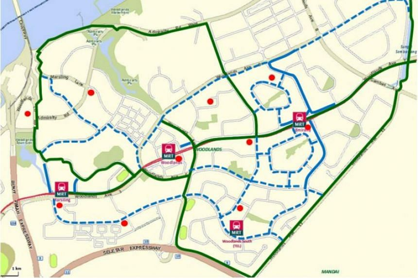 Woodlands will see 20km added to its current 4km of cycling paths and more than 8km of park connectors.