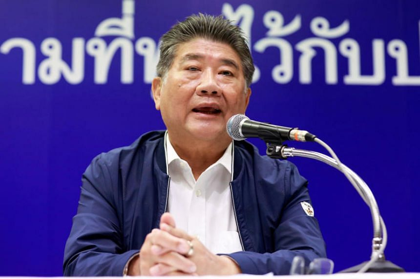 Secretary General of Pheu Thai party Phumtam Wechayachai at a news conference after the general election in Bangkok, Thailand on March 26, 2019.