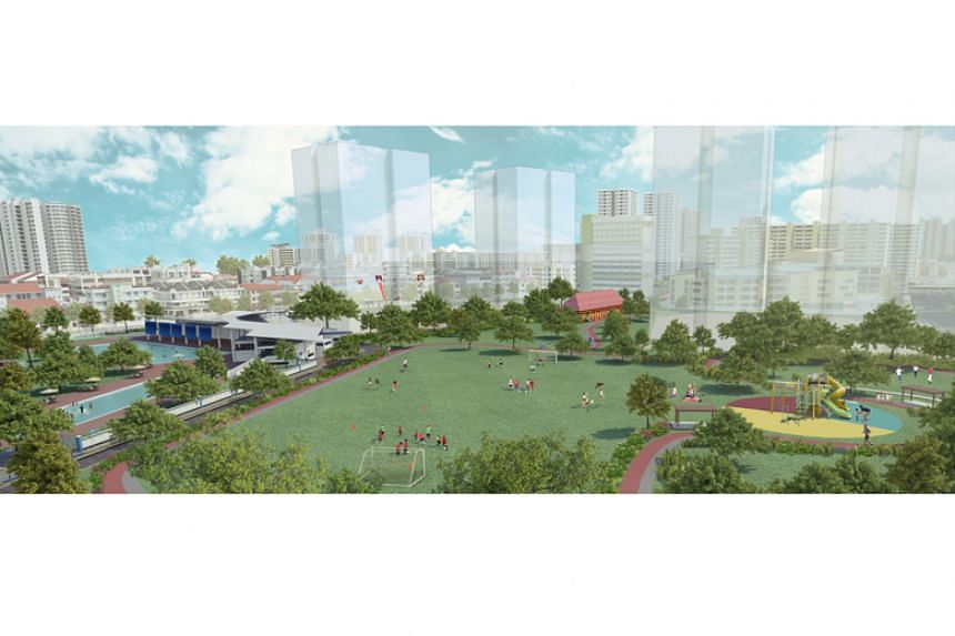 An artist's impression of the future Farrer Park.