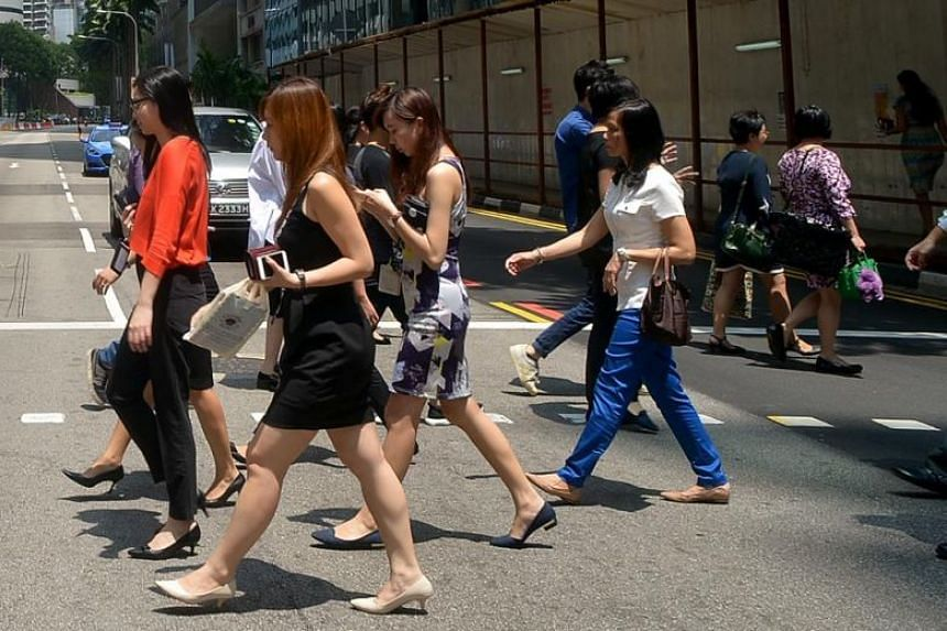 Women have an average base pay that is almost US$10,000 (S$13,530) less than men's annually, according to the report, which was based on a sample of over 5,000 salaries reported by Singaporean employees.