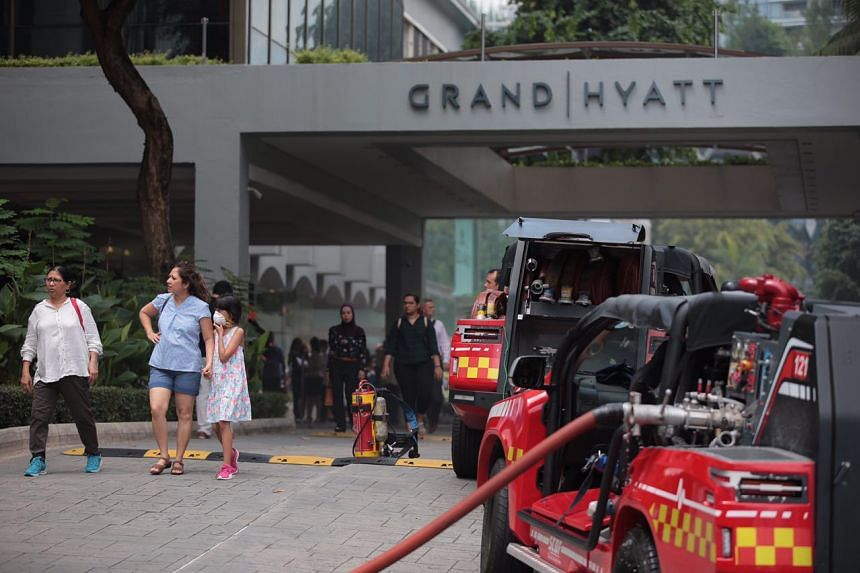At least three Singapore Civil Defence Force vehicles and one police car were at the scene at about 12pm.
