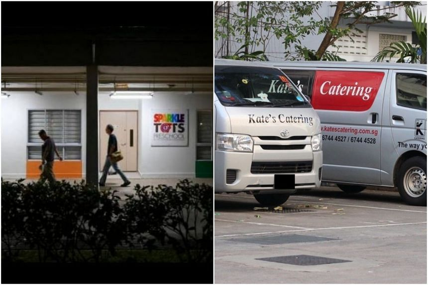Caterer Kate's Catering was instructed to suspend its operations with effect from Tuesday, pending investigations by the various agencies after an outbreak of gastroenteritis across several PCF Sparkletots outlets.