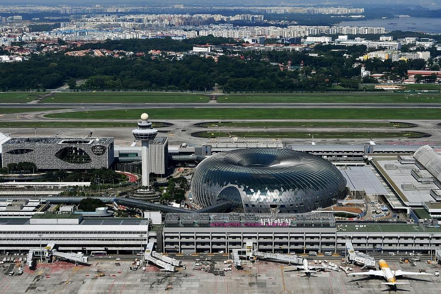 Changi Airport Terminal 3's revamped Basement 2 includes a massive high-definition screen to air movies and live football matches. The airport was also named the best in the world for leisure amenities. The dome-shaped Jewel Changi Airport, with more