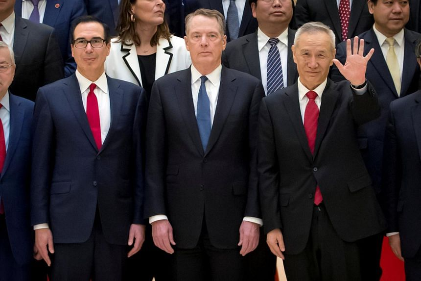 US Trade Representative Robert Lighthizer (centre) and Treasury Secretary Steven Mnuchin are expected to begin two days of talks in Beijing with China's top economic official Liu He this week.