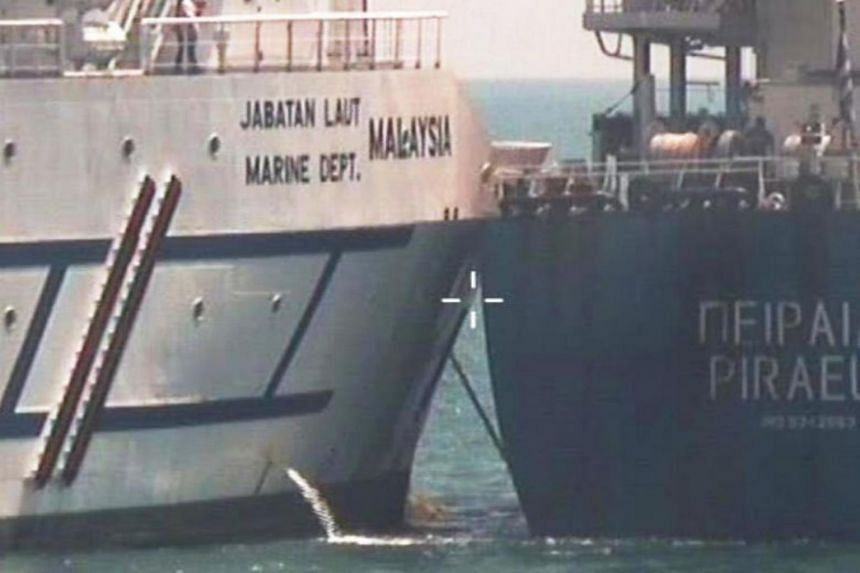 Malaysian vessel Polaris and Greek bulk carrier Pireas collided on Feb 9, 2019, as the Pireas was on its way from Singapore to its next port of call at Tanjung Pelepas in Johor.