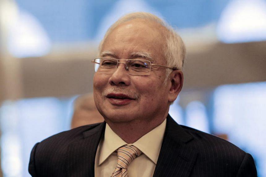 Former Malaysian Prime Minister Najib Razak arrives at the High Court in Putrajaya, Malaysia, on March 21, 2019.