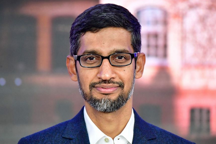 Pichai attends the opening of a new Berlin office for US Internet search giant Google.