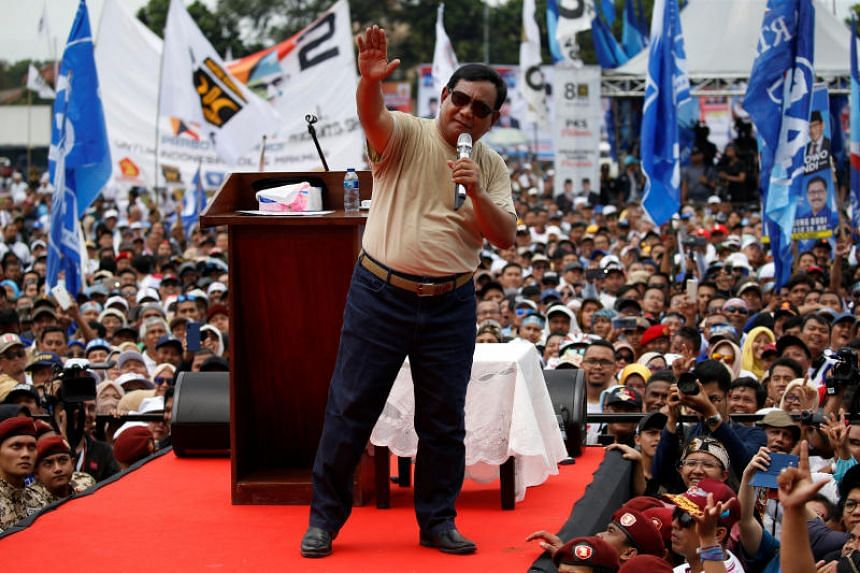 """Indonesia's presidential candidate Prabowo Subianto called on his """"brothers"""" in West Java province to hand him and his running-mate Sandiaga Uno a resounding victory in the April 17 elections."""