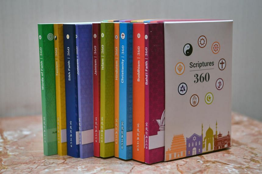 A set of books by Singapore religious groups titled 360. Most Singaporeans feel that having different religious views is no barrier to getting along when living in close proximity, a new report by the Institute of Policy Studies found.