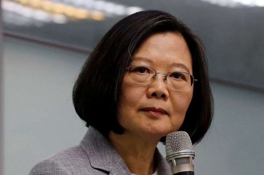 Taiwanese President Tsai Ing-wen said her country had submitted new requests to the United States for M-1 Abrams tanks and F-16B fighter jets.