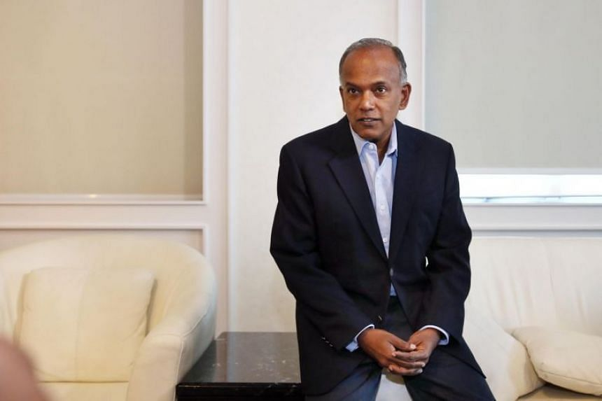 """Minister for Law and Home Affairs K. Shanmugam called the comments """"the somewhat exaggerated words of a young man""""."""