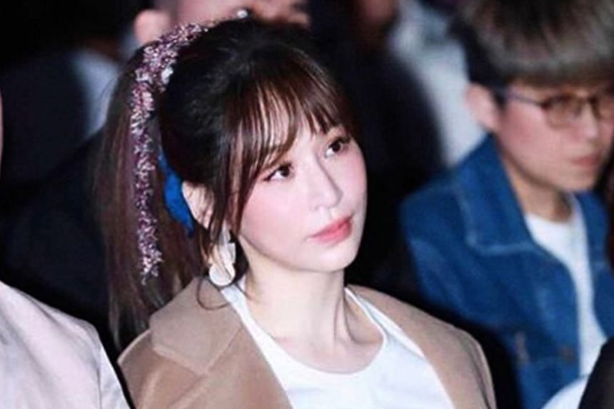MAYBE SHE'S BORN WITH IT: Taiwanese singer Cyndi Wang (above) has rebutted allegations that she has gone for cosmetic surgery after the questions were raised when she attended a music awards ceremony on Tuesday. 	Some netizens said that her expressio