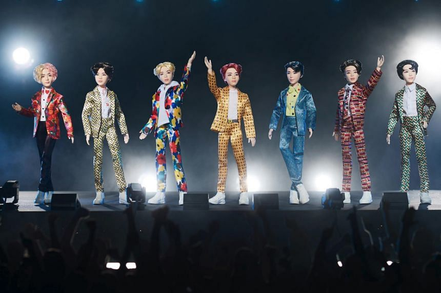 Mattel unveiled its BTS x Mattel collection (above), a toy line inspired by the South Korean boyband, on Monday.