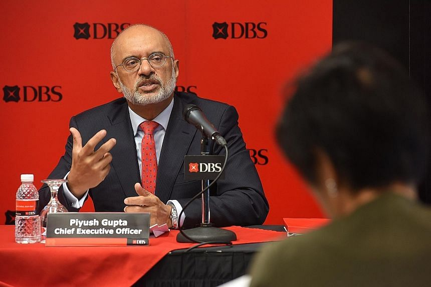 DBS Group chief executive Piyush Gupta's cash bonus for last year rose to $4.5 million while his share plan went up to $6.1 million. This is on top of a salary of $1.2 million which was unchanged from the previous year, according to the bank's latest