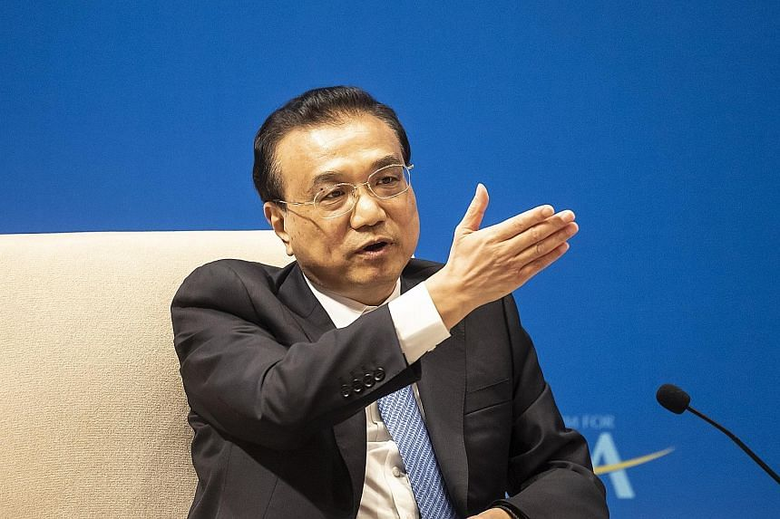 Premier Li Keqiang at the Boao Forum for Asia annual conference in Hainan yesterday..