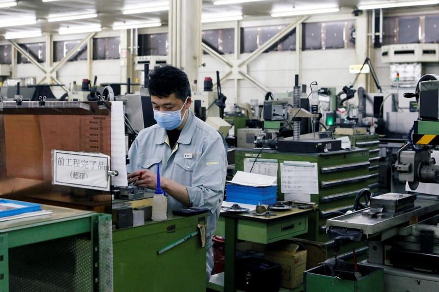 Japan's factory output for February rose 1.4 per cent month-on-month after a 3.4 per cent dip in January.