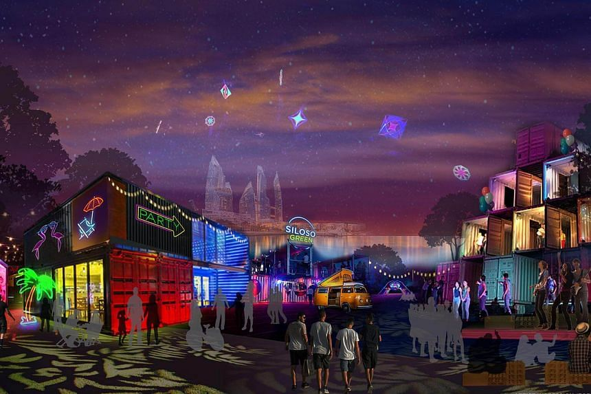 Siloso Green in Sentosa will take over the 24,500 sq m space vacated by Underwater World and have a shipping container theme. Bars, food trucks and live music under the stars are among the draws of the new attraction.