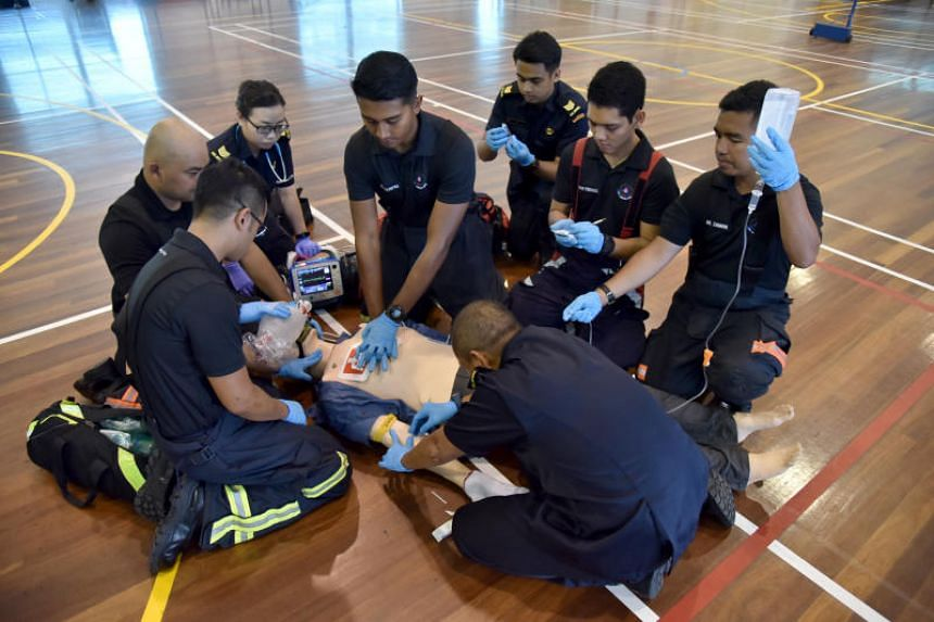 """The Singapore Civil Defence Force will be focusing more resources on life-threatening cases that are critically time-sensitive by introducing """"high-performance cardiopulmonary resuscitation"""" in cases of cardiac arrest."""