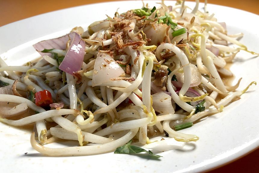 Salted Fish with Bean Sprouts ($5).