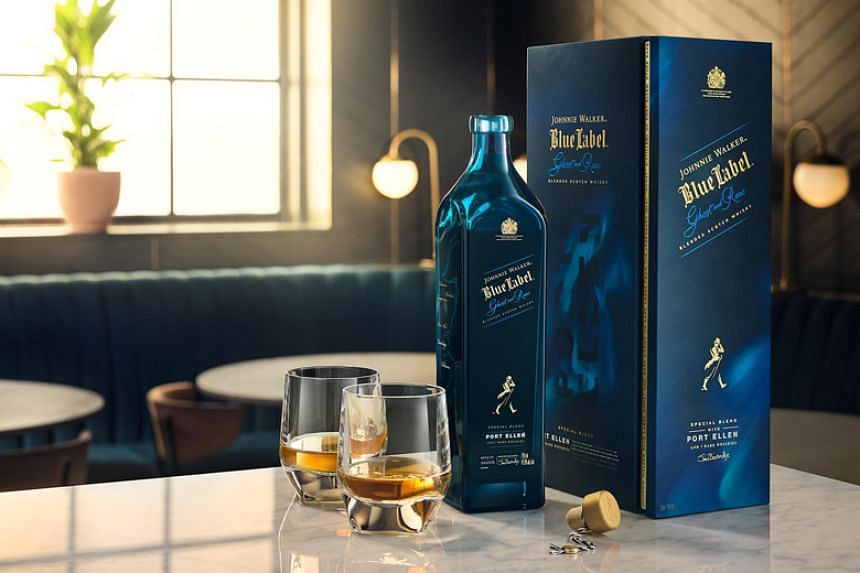 The Johnnie Walker Blue Ghost and Rare Port Ellen, which is blended with highly sought after whisky from the Port Ellen distillery, retails at $550.30 at this year's edition of the DFS Masters of Wine and Spirits.