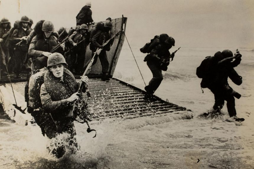 United States Marines landing on Red Beach, Danang, in 1965.