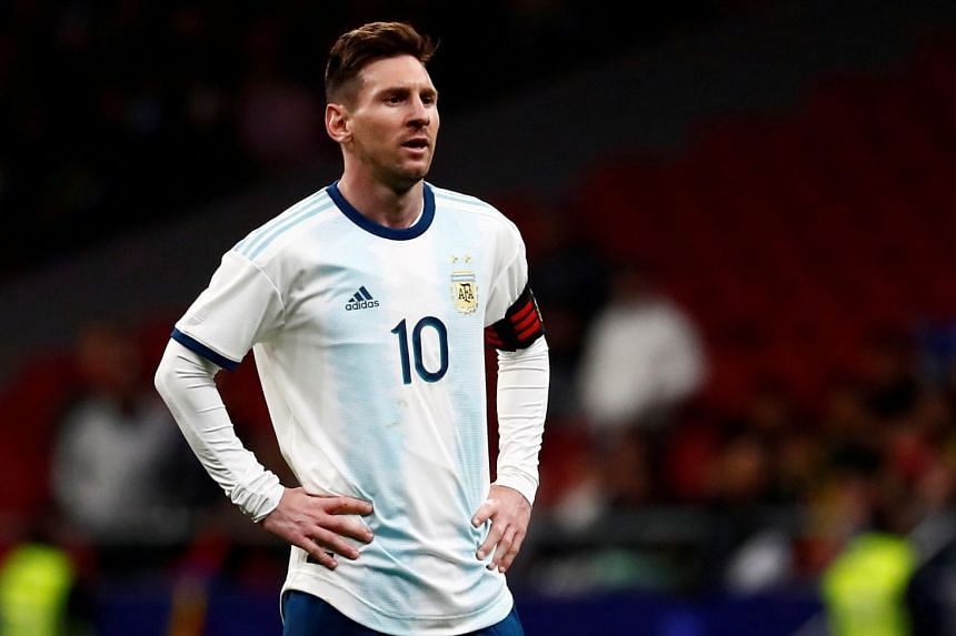 Argentina's Lionel Messi looks dejected against Venezuela.
