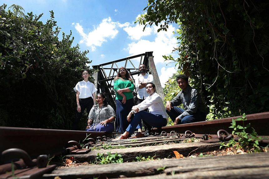 Railway Records director Sharmila Yogalingam (in green, posing with her cast members) was inspired by her family's connection to the now-defunct Tanjong Pagar Railway Station to tell stories about the everyday man from different eras in Singapore's h