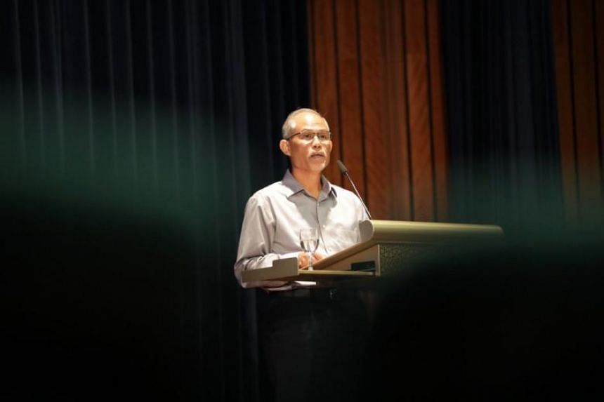 Minister-in-charge of Muslim Affairs Masagos Zulkifli speaking at the annual workplan seminar held at the Islamic Religious Council of Singapore's (Muis) Braddell Road premises on March 30, 2019.