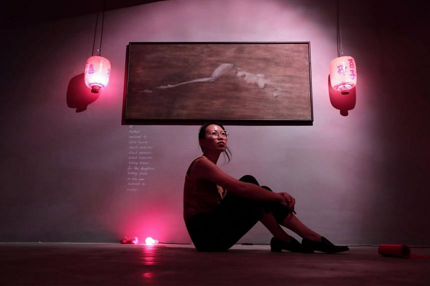 Artist Yanyun Chen, one of the shortlisted artists in the President's Young Talents show in 2018.