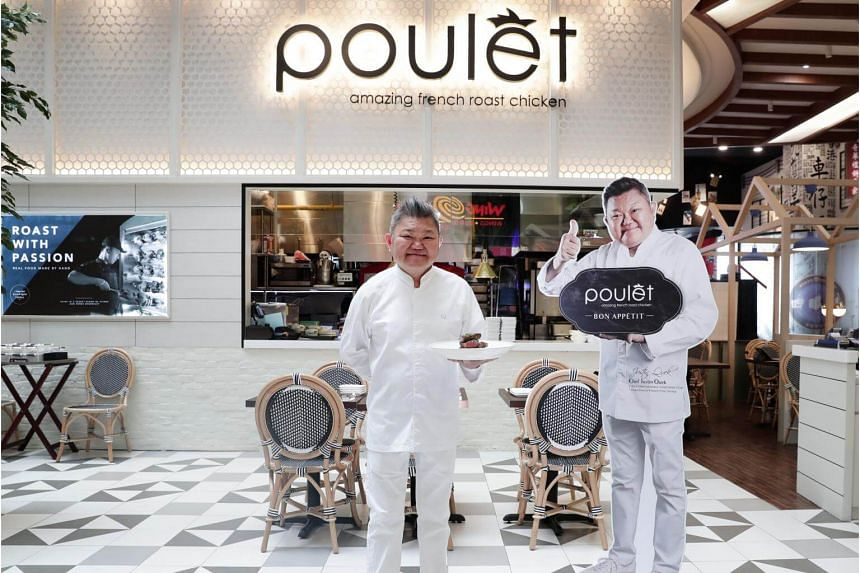 Justin Quek, who owns the fine-dining Chinoiserie and more casual JustIN at Marina Bay Sands, has been collaborating with mid-priced eateries such as Poulet by creating dishes for them targeted at the masses.