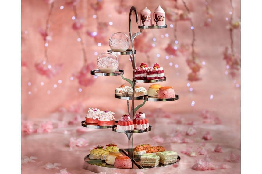 Highlights of the Sakura afternoon tea include sakura scones, sakura Mont Blanc, and cherry blossom panna cotta with sakura jelly. Also available are savoury items such as crabmeat rillettes and ikura, and chorizo pate toast.