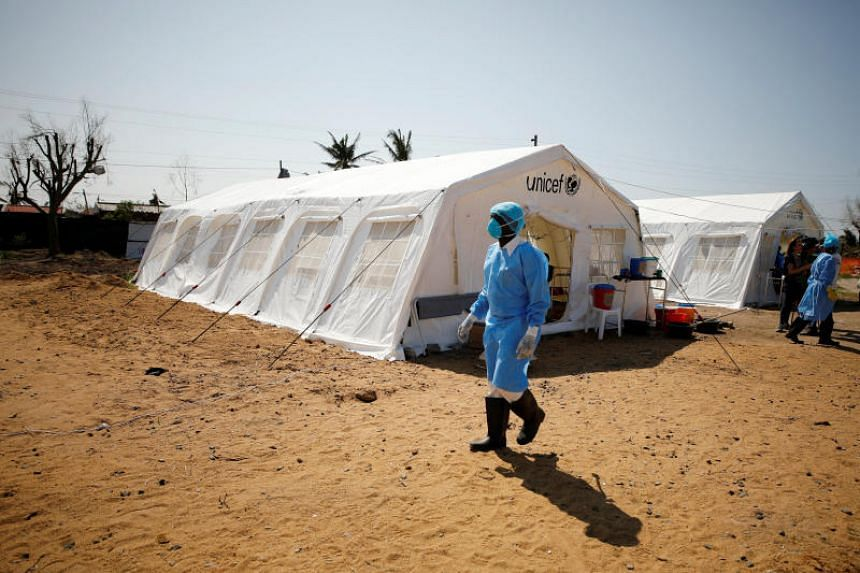 A cholera treatment centre set up in the aftermath of Cyclone Idai in Beira, Mozambique. The government said for the first time that there had been confirmed cholera cases on March 27, 2019.